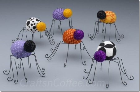 Halloween Spiders by Crafts 'N Coffee