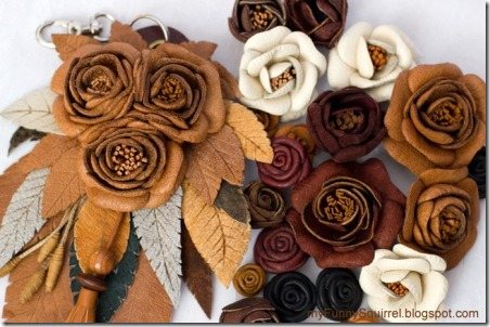 Leather Flowers by Funny Squirrel