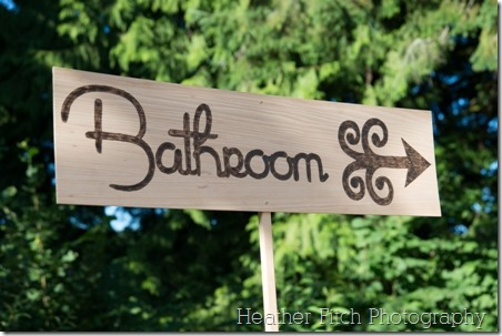 Outdoor Wedding Bathroom - Crafty Staci 2