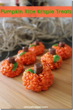 Pumpkin Rice Krispie Treats from Cincy Shopper