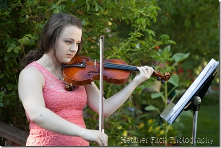 Savannah Gentry on the violin