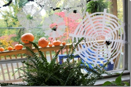 Spider Webs from Coffee Filters by The Artful Parent