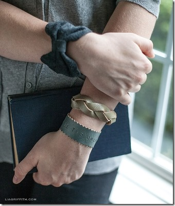 Three DIY Leather Bracelets by Lia Griffith