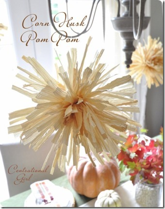 Corn Husk Pom Pom from Centsational Girl