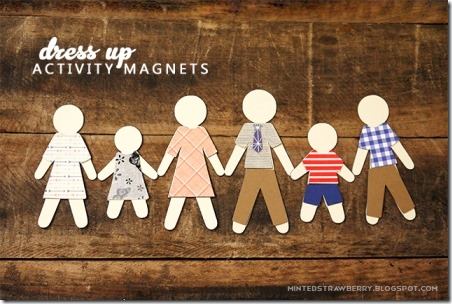 Dress-up Activity Magnets from Minted Strawberry