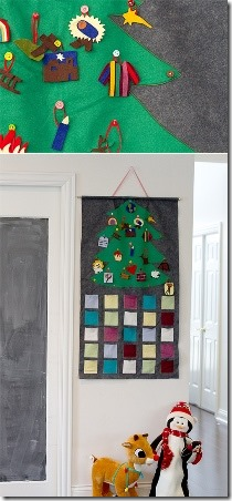 Felt Advent Calendar from Skip to my Lou