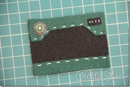 Felt Camera Ornament Step 2 - Crafty Staci