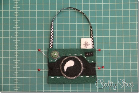 Felt Camera Ornament Step 8 - Crafty Staci