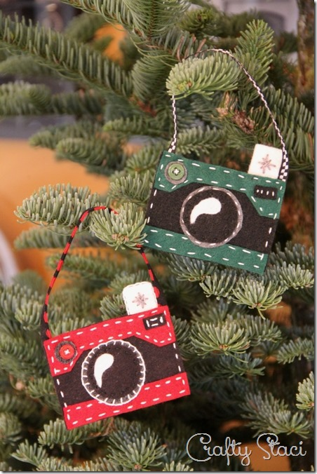 How to Make Felt Camera Ornaments by Crafty Staci