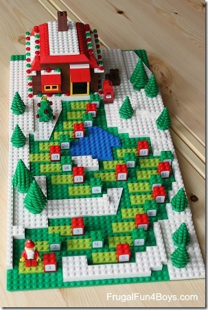 Lego Gingerbread Path Advent Calendar from Frugal Fun 4 Boys