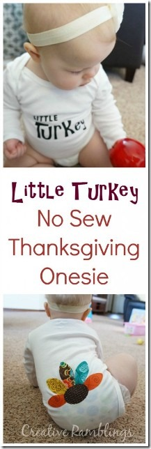 Little Turkey Thanksgiving Onesie from Creative Ramblings