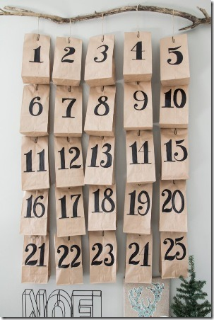 Paper Bag Advent from Third Floor Design Studio