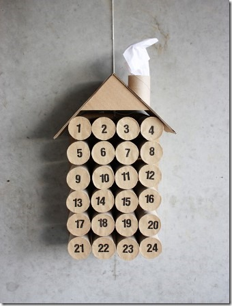 Toilet Paper Roll Christmas Calendar from Morning Creativity
