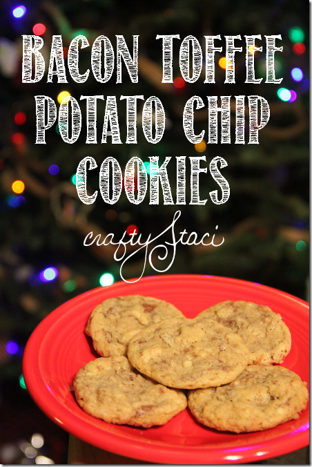 Bacon Toffee Potato Chip Cookies by Crafty Staci