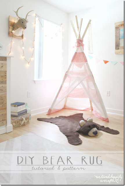 DIY Bear Rug from We Lived Happily Ever After