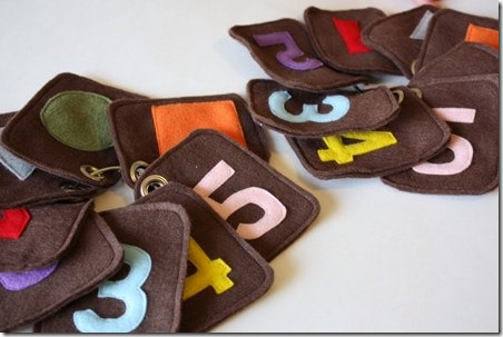 Felt Flash Cards from Sew Much Ado