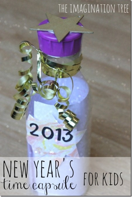 New Year's Time Capsule for Kids from The Imagination Tree