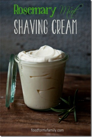 Rosemary Mint Shaving Cream from Food for my Family