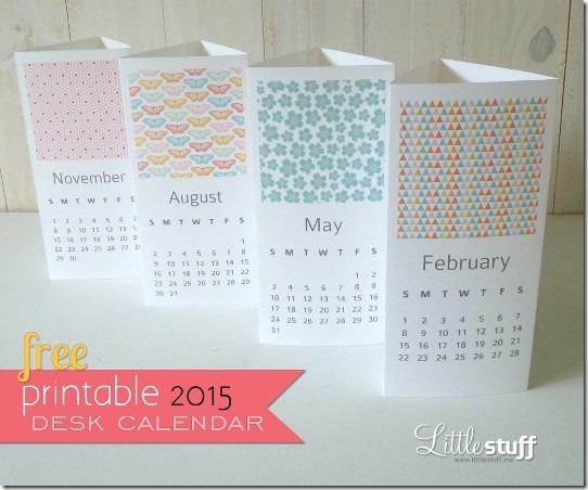 2015 Printable Calendar from Little Stuff