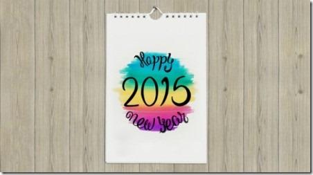2015 Printable Calendar from Todays Creative Blog
