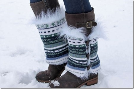 DIY Faux Fur Boot Sweaters from The Renegade Seamstress on eHow