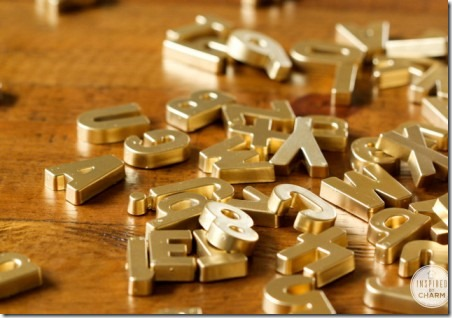 DIY Gold Magnetic Letters by Inspired by Charm