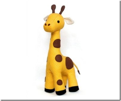 Giraffe Plush Toy by DIYFluffies on Etsy