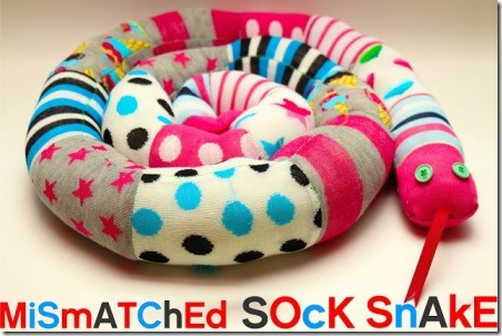 Mismatched Sock Snake by Grosgrain