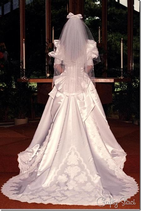 My Wedding Dress 1991 - Crafty Staci