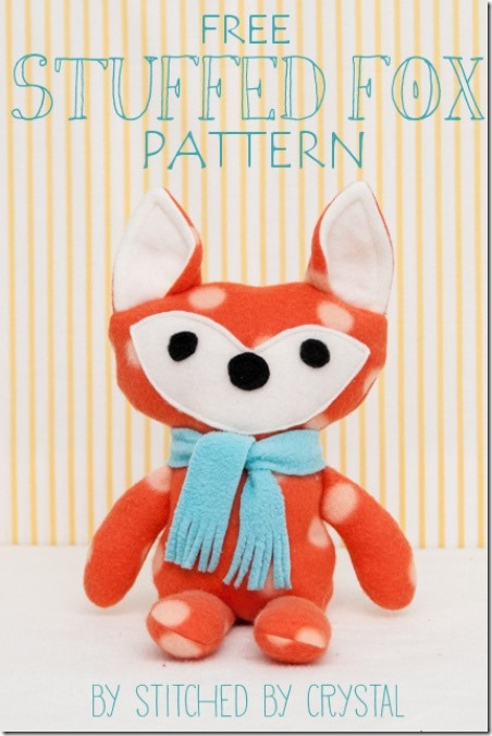 Stuffed Fox from Stitched by Crystal