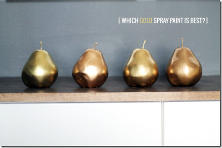 Which Gold Spray Paint is Best by Chris Loves Julia