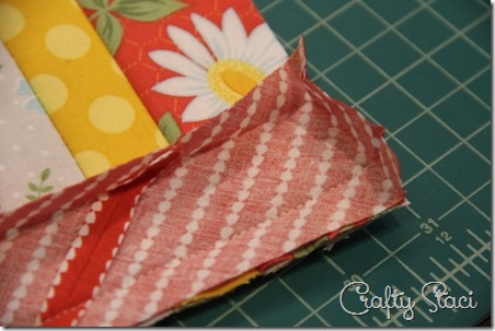 Binding the long edges - Crafty Staci