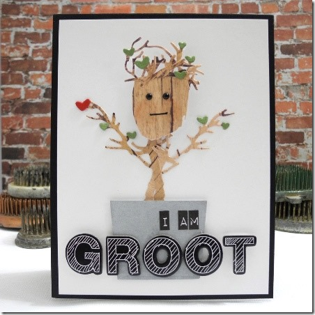 I am Groot Card from Spellbinders