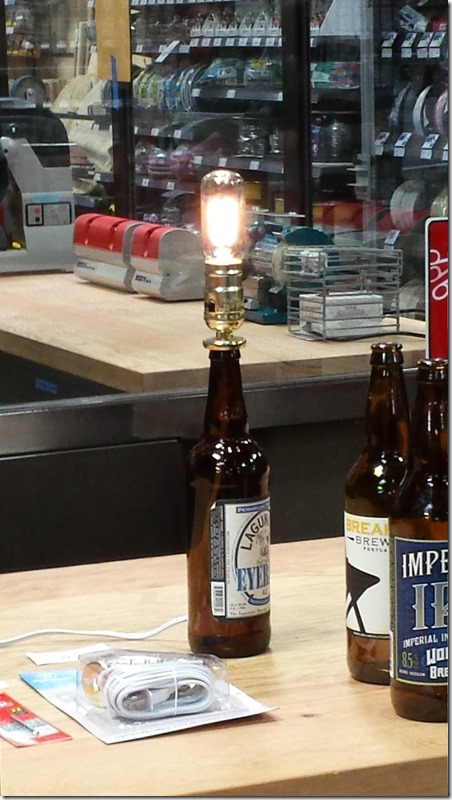 Orchard Hardware - beer bottle lamp