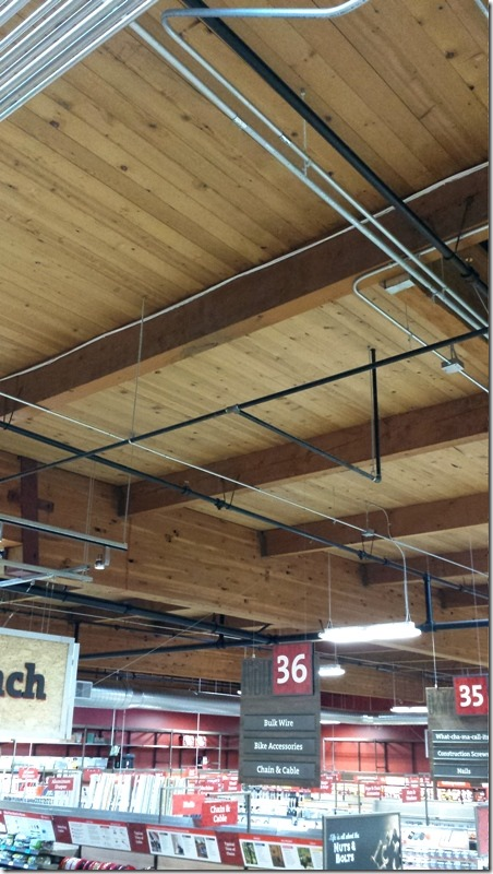 Orchard Supply Hardware - wood ceilings