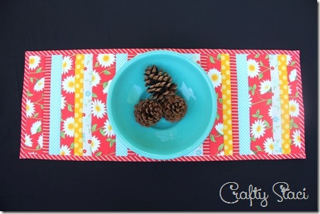 Quilt As You Go Table Runner - Crafty Staci