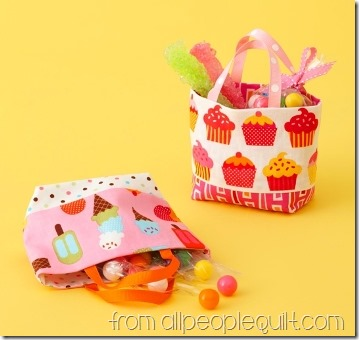 Small Treat Totes from All People Quilt