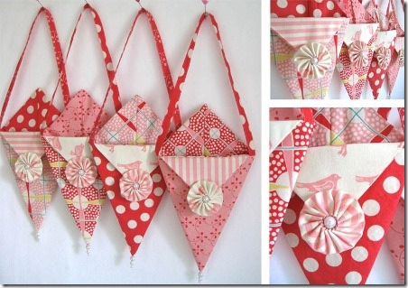Valentine Pennie Pockets from Moda Bake Shop