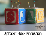 Alphabet Block Pincushion