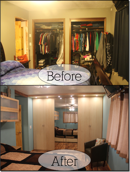 before and after - the closet