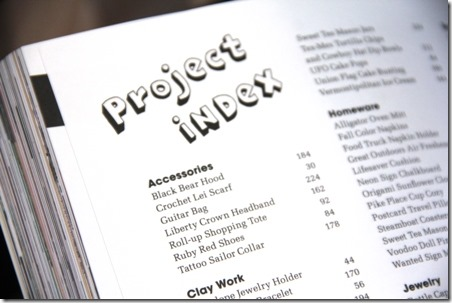 Cut Out and Keep Book Project Index