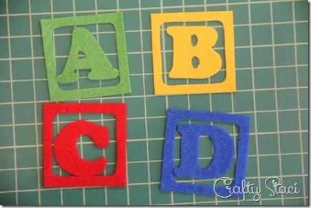 Cut out felt letters - Crafty Staci