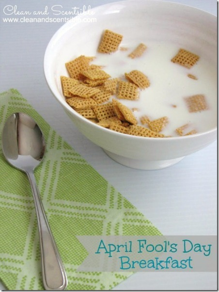 Easy April Fools Day Breakfast from Clean and Scentisible