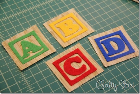 Felt letters ironed onto fabric - Crafty Staci