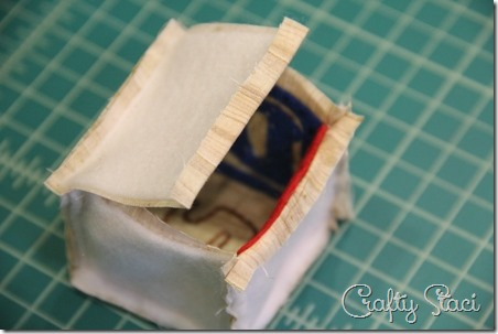 Fold edges under - Crafty Staci