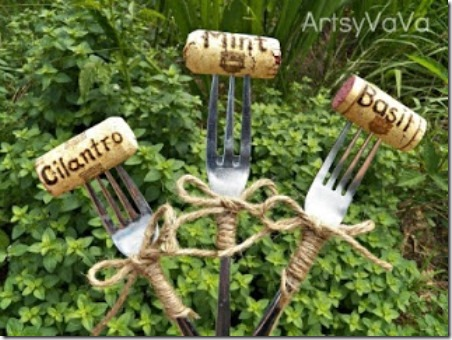 Fork and Cork Plant Markers from Artsy VaVa