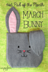 My March Hot Pad of the Month - a sweet spring bunny!