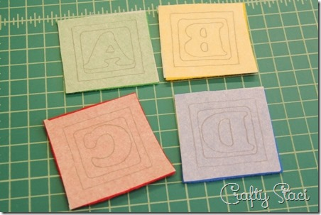 Letters ironed onto felt - Crafty Staci
