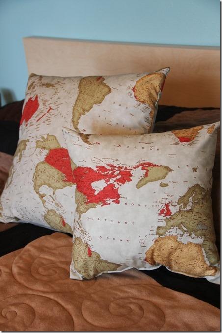 Map Pillows - Crafty Staci
