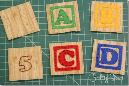 Number and letters stitched - Crafty Staci